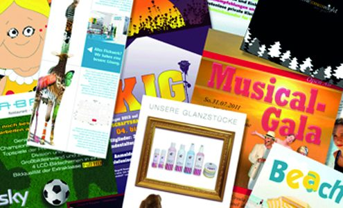 Flyer, Klappkarten, Postkarten, Einladungskarten, Visitenkarten
